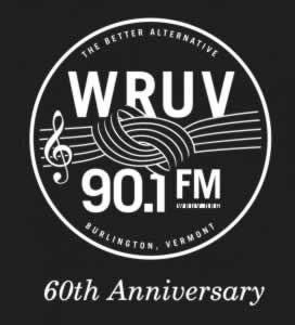 WRUV Logo 60th Anniversary